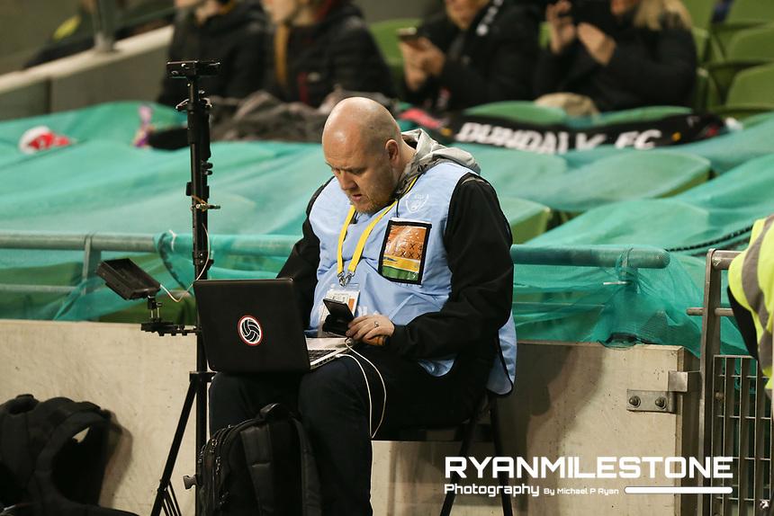 Gavin McLaughlin of Dundalk Sport during the Irish Daily Mail FAI Cup Final between Dundalk and Cork City, on Sunday 4th November 2018, at the Aviva Stadium, Dublin. Mandatory Credit: Michael P Ryan.