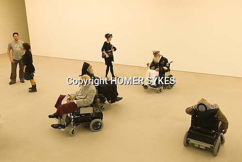 The Saatchi Gallery. The Duke of York Headquarters, Chelsea, London UK 2008. The Revolution Continues: New Art from China. ld Person Home by Sun Yuan and Peng Yu.