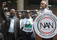 NEW YORK, NY - JULY 20: Benjamin Crump speaks as Trayvon Martin's mother Sybrina Fulton and Martin's brother Jahvaris Fulton and Singer Beyonce and husband Jay-Z all attended a rally honoring Trayvon Martin organized by the National Action Network outside One Police Plaza in Manhattan on July 20, 2013 in New York City. Demonstrators have gathered in various cities across the country to protest the acquittal of neighborhood watchman George Zimmerman and press for his federal prosecution in the shooting death of teenager Trayvon Martin. on July 20, 2013 in New York City. <br /> <br /> <br /> People:  Benjamin Crump<br /> <br /> Transmission Ref:  MNC1<br /> <br /> Must call if interested<br /> Michael Storms<br /> Storms Media Group Inc.<br /> 305-632-3400 - Cell<br /> 305-513-5783 - Fax<br /> MikeStorm@aol.com