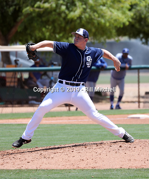 Tyler Mortensen - San Diego Padres 2019 extended spring training (Bill Mitchell)