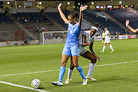 Chicago, IL - Saturday July 30, 2016: Cara Walls, Brianne Reed, Taylor Comeau during a regular season National Women's Soccer League (NWSL) match between the Chicago Red Stars and FC Kansas City at Toyota Park.