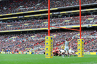 General view of the world record crowd during the Aviva Premiership match between Saracens and Harlequins at Wembley Stadium on Saturday 31st March 2012 (Photo by Rob Munro)