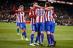 Atletico de Madrid's Nico Gaitán, Saúl Ñígez, Koke Resurrección, Fernando Torres and Antoine Griezmann celebrating a goal during La Liga match between Atletico de Madrid and Real Betis at Vicente Calderon Stadium in Madrid, Spain. January 14, 2017. (ALTERPHOTOS/BorjaB.Hojas)