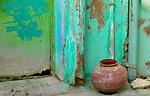 Pot near doorway, Rajasthan, India