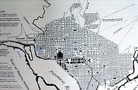 Washington D.C. L'Enfant's Plan 1791. (REPS, Monumental Washington, p. 19)