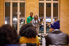 January 18, 2018; ND students attend a grand opening event to celebrate the new Duncan Student Center. (Photo by Peter Ringenberg/University of Notre Dame)