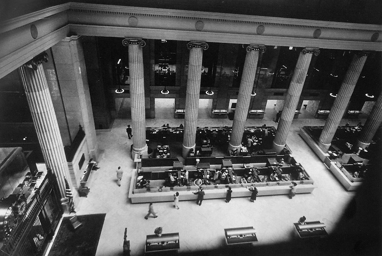 Inside Mellon National Bank. Photograph by W. Eugene Smith.
