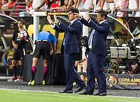 GLENDALE, AZ - June 8, 2016: The 2016 COPA America Centenario Group B match, Ecuador vs Peru at The University of Phoenix Stadium. Final score, Ecuador 2, Peru 2.
