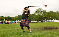 A competitor prepares to throw the hammer during the Loch Norman games in Huntersville, NC.