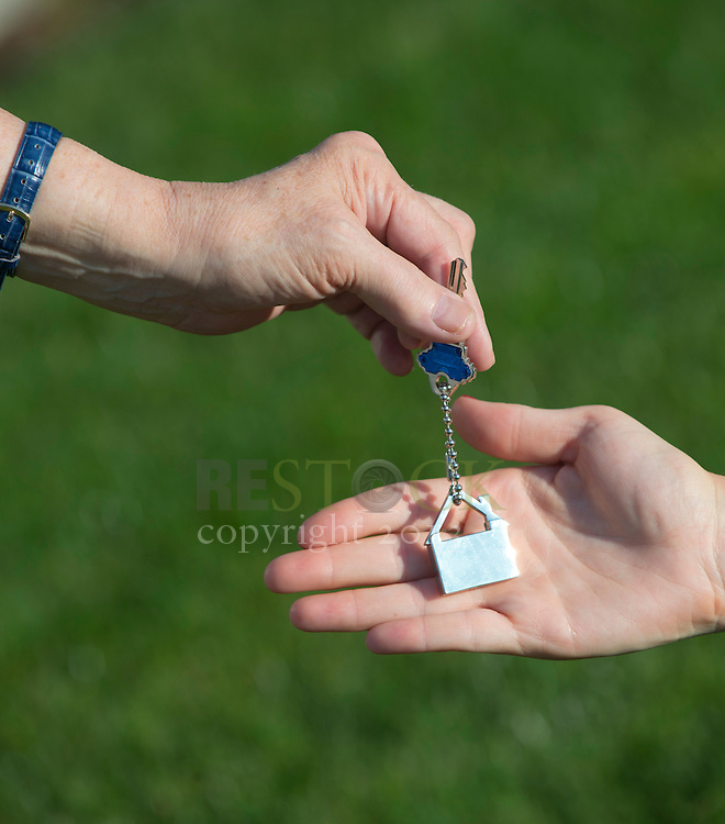 Recieving Key to New Home