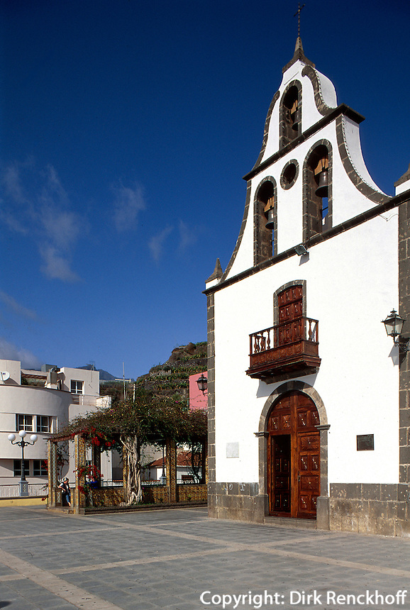 Spanien, Kanarische Inseln, La Palma, Tazacortes, Iglesia San Miguel Arcangel