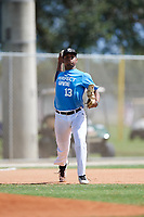 Luis Espinal during the WWBA World Championship at the Roger Dean Complex on October 19, 2018 in Jupiter, Florida.  Luis Espinal is a third baseman from Miami, Florida who attends Doral Academy Charter High School and is committed to Miami.  (Mike Janes/Four Seam Images)