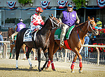 July 4, 2021: Mind Control, ridden by John Velazquez, in the post parade prior to the 2021 running of the G2 John A. Nerud S. at Belmont Park in Elmont, NY. Sophie Shore/ESW/CSM