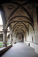 Florence: Cloister, Santa Maria Novella--loggia. Photo '83.