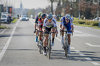 Peter Sagan (SVK/Bora-Hansgrohe) & Niki Terpstra (NED/Quick-Step Floors) in teh last 15 kilometers of the race<br /> <br /> 79th Gent-Wevelgem 2017 (1.UWT)<br /> 1day race: Deinze › Wevelgem - BEL (249km)