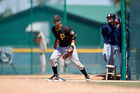 Pittsburgh Pirates Mikell Granberry (79) during a minor league Spring Training game against the Atlanta Braves on March 13, 2018 at Pirate City in Bradenton, Florida.  (Mike Janes/Four Seam Images)
