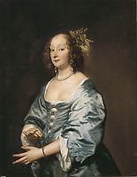 VAN DYCK, Sir Anthony (1599-1641). Portrait of Mary Ruthven, Lady Van Dyck. 1639. Baroque art. ; Flemish art. Oil on canvas. S