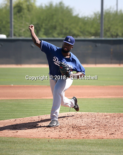 Amaury Telemaco - Los Angeles Dodgers 2018 extended spring training (Bill Mitchell)