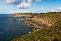 Europe/France/Bretagne/35/Ille et Vilaine/Côte d'Emeraude/Cancale: Pointe du Grouin vue depuis la corniche du Verger   // France, Ille et Vilaine, cote d'emeraude (Emerald Coast), Cancale,The Pointe du Grouin