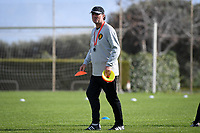 20190226 - LARNACA , CYPRUS :  Belgian assistant coach Kris Van Der Haegen pictured during a Matchday -1 training from The Belgian Red Flames prior to their game against the women team of Slovakia , on Tuesday 26 February 2019 at the Alpha Sports Grounds in Larnaca , Cyprus . This will be the first game in group C for Belgium during the Cyprus Womens Cup 2019 , a prestigious women soccer tournament as a preparation on the European Championship 2021 qualification duels. PHOTO SPORTPIX.BE   DAVID CATRY