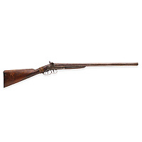BNPS.co.uk (01202 558833)<br /> Pic: Bonhams/BNPS<br /> <br /> Pictured: A double barrel shotgun he took from deputy sheriff Bob Olinger and used to murder him before chucking it on the ground as it was damaged is tipped to go for £220,000.<br /> <br /> The gun used to kill Wild West outlaw Billy the Kid 140 years ago has emerged for sale for a staggering £2.2million.<br /> <br /> The notorious American fugitive was gunned down by Sheriff Pat Garrett at his ranch hideout in Fort Summer, New Mexico, in 1881.<br /> <br /> He had been on the run for two months following a violent prison break-out during which he killed two of the sheriff's deputies.
