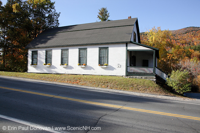 Veterans Hall during the autumn months....Located in Newbury, New Hampshire  USA  ..