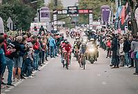 last breakaway group trying to stay ahead in the last lap<br /> <br /> 77th Euro Metropole Tour 2017<br /> La Louvière > Tournai (BEL): 188.6 km