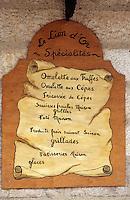 """Europe/France/Midi-Pyrénées/46/Lot/Causse de Limogne/Lalbenque: Enseigne du restaurant """"Le Lion d'Or"""""""