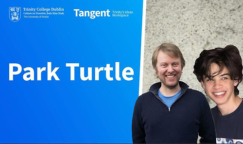 Dun Laoghaire sailors John Chambers (left) and Charlie Cullen have launched Park Turtle to help yacht clubs solve the problems of dinghy parking