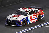 CONCORD, NORTH CAROLINA - MAY 28: Daniel Suarez, driver of the #96 Today.Tomorrow.Toyota Toyota, drives during the NASCAR Cup Series Alsco Uniforms 500 at Charlotte Motor Speedway on May 28, 2020 in Concord, North Carolina. (Photo by Chris Graythen/Getty Images)
