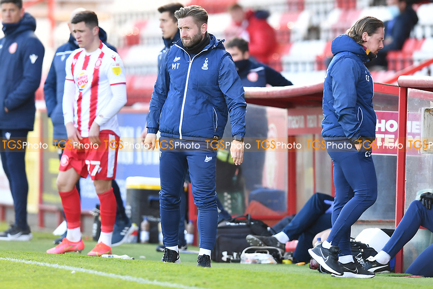 Bradford City AFC Manager Mark Trueman during Stevenage vs Bradford City, Sky Bet EFL League 2 Football at the Lamex Stadium on 5th April 2021