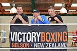 Billy Graham talks at Victory Boxing