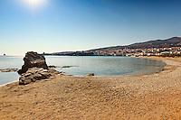 Neiborio beach near Chora in Andros island, Greece