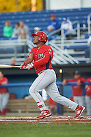Williamsport Crosscutters designated hitter Luis Encarnacion (30) at bat during a game against the Batavia Muckdogs on September 1, 2016 at Dwyer Stadium in Batavia, New York.  Williamsport defeated Batavia 10-3. (Mike Janes/Four Seam Images)