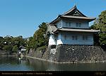 Tatsumi Yagura Sakurada Niju Yagura Sumi Yagura two-story corner tower original Edo Castle watchtower Kikyo Bori moat Imperial Palace Tokyo