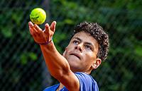 Hilversum, Netherlands, August 5, 2021, Tulip Tennis center, National Junior Tennis Championships 16 and 18 years, NJK, Boys single 16 years, Noah Gabriël (NED)<br /> Photo: Tennisimages/Henk Koster