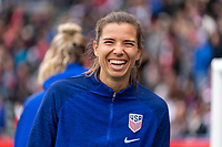 CARSON, CA - FEBRUARY 9: Tobin Heath #17 of the United States smiles during a game between Canada and USWNT at Dignity Health Sports Park on February 9, 2020 in Carson, California.
