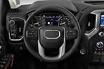 Car pictures of steering wheel view of a 2020 GMC Sierra-2500-HD Denali 4 Door Pick-up Steering Wheel