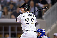 Matt Davidson (22) of the Charlotte Knights at bat against the Durham Bulls at BB&T Ballpark on April 24, 2014 in Charlotte, North Carolina.  The Knights defeated the Bulls 4-3.  (Brian Westerholt/Four Seam Images)