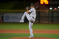 Peoria Javelinas relief pitcher Art Warren (36), of the Seattle Mariners organization, delivers a pitch to the plate during an Arizona Fall League game against the Scottsdale Scorpions on October 20, 2017 at Scottsdale Stadium in Scottsdale, Arizona. the Javelinas defeated the Scorpions 2-0. (Zachary Lucy/Four Seam Images)