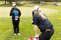 STANFORD, CA - APRIL 25: Allisen Corpuz, Amelia Garvey at Stanford Golf Course on April 25, 2021 in Stanford, California.