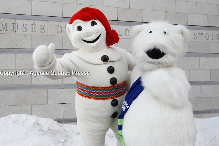 Bonhomme Carnaval<br />  et Boule de Neige<br /> <br /> PHOTO :  Agence Quebec Presse