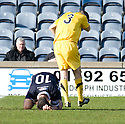 BRIAN GRAHAM AND EDDIE MALONE CLASH RESULTING IN GRAHAM BEING SENT OFF