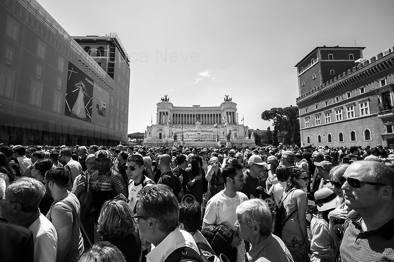 """Epilogue.<br /> <br /> Rome, 02/06/2019. Today, Italy celebrated the annual """"Festa Della Repubblica"""" (Republic Day, 1.). The 73rd Anniversary of the Italian Republic (*) was marked with the """"Raising the Flag Ceremony"""" and the tribute to the Sacello del Milite Ignoto (Unknown Soldier) at the Altare della Patria """"Vittoriano"""" (2.) by the President of the Italian Republic Sergio Mattarella, followed by the traditional army, veterans and civilians parade along Via Dei Fori Imperiali. This year, the President of the Republic was accompanied by the Defence Minister Elisabetta Trenta, the Italian Prime Minister Giuseppe Conte, the Presidents of the two Chambers of the Parliament, Roberto Fico and Maria Elisabetta Alberti Casellati, several members of the Italian Government, political leaders, senior officers of the Armed Forces and representatives of the Civilian Organizations. At the end of the events the Frecce Tricolori, the Italian Aerobatic Team, coloured the sky over Rome with the Tricolore (Tricolour: Green, White, Red) of the Italian Flag. The theme for this year's event was inclusiveness. <br /> <br /> Footnotes and Links:<br /> (*) The Referendum was held on 2 June 1946 and it marked the decision made by the Italian people to adopt the Republic as the new institutional form for the Country. <br /> 1. http://bit.do/eT8By (ITA) & http://bit.do/eT8Bv (ENG) at https://www.difesa.it/<br /> 2. http://bit.do/eT8BG (Wikipedia)"""