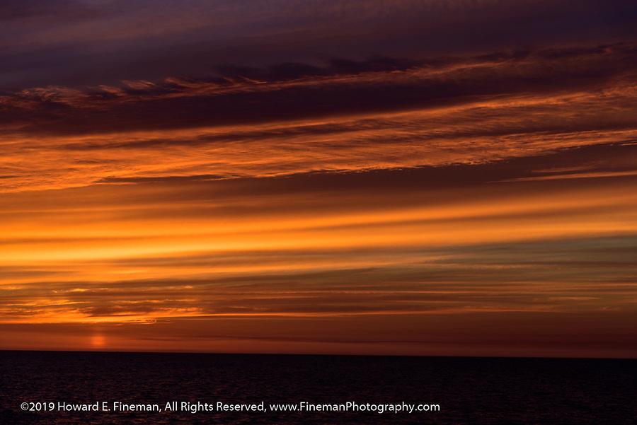 Sunset at 11 pm leaving Stavanger