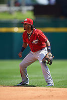 Columbus Clippers second baseman Michael Martinez (7) during a game against the Buffalo Bisons on July 19, 2015 at Coca-Cola Field in Buffalo, New York.  Buffalo defeated Columbus 4-3 in twelve innings.  (Mike Janes/Four Seam Images)
