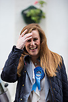 © Joel Goodman - 07973 332324 . 20/11/2014 . Kent , UK . Conservative candidate KELLY TOLHURST walks along High Street Rochester . The Rochester and Strood by-election campaign following the defection of sitting MP Mark Reckless from Conservative to UKIP . Photo credit : Joel Goodman