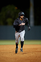 Jupiter Hammerheads Victor Victor Mesa (32) running the bases during a Florida State League game against the Florida Fire Frogs on April 8, 2019 at Osceola County Stadium in Kissimmee, Florida.  Florida defeated Jupiter 7-6 in ten innings.  (Mike Janes/Four Seam Images)