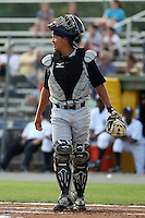 July 7th 2008:  Josue Peley of the State College Spikes, Class-A affiliate of the Pittsburgh Pirates, during a game at Damaschke Field in Oneonta, NY.  Photo by:  Mike Janes/Four Seam Images