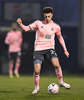 9th January 2021; Memorial Stadium, Bristol, England; English FA Cup Football, Bristol Rovers versus Sheffield United; Ethan Ampadu of Sheffield United plays the ball back